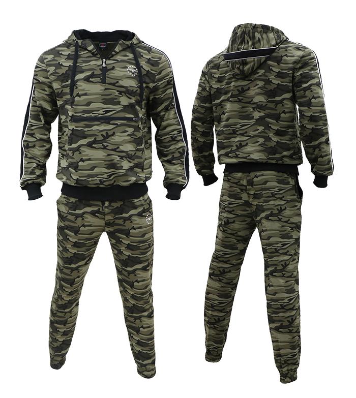AlekleeCamo Спортивные костюмы для мужчин - Толстовки с капюшоном AL-7816