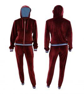 Aleklee бархатный велюровый спортивный костюм с капюшоном AL-071220#