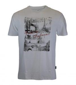 Aleklee эйфелева башня париж принт футболка AL-6022#